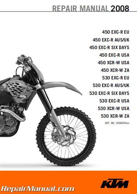 Ktm Manual 2008 Ktm 450 530 Exc R Xcr W Motorcycle Repair Manual