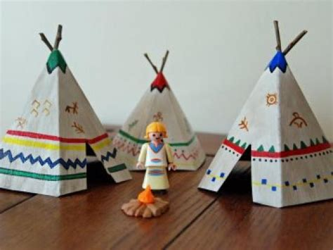 How To Make Paper Teepees - how to make mini teepees tipi crafts activities