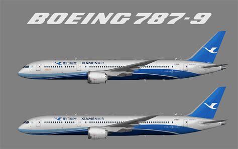 xiamen air boeing 787 9 juergen s paint hangar