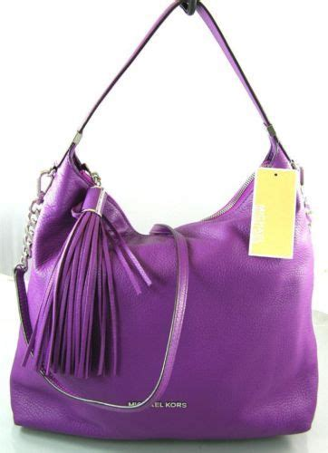 Hana Bag Farica Bags Purple authentic new nwt michael kors leather weston purple hobo