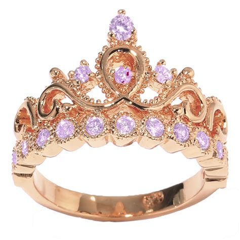14k gold princess crown alexandrite birthstone ring june