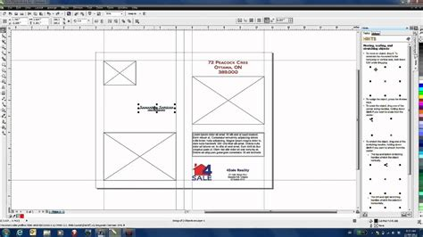Corel Draw Templates For Brochures | creating a marketing brochure template in coreldraw