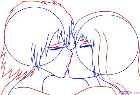 tutorial how to kiss a boy how to draw people kissing step by step anime people