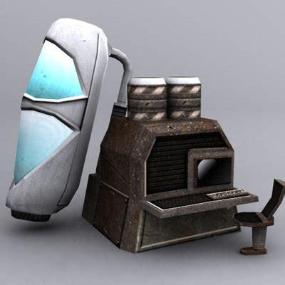 sci fi couch sci fi pack 3d model