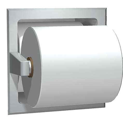 recessed toilet paper holder with shelf asi recessed toilet tissue holder with extra roll storage