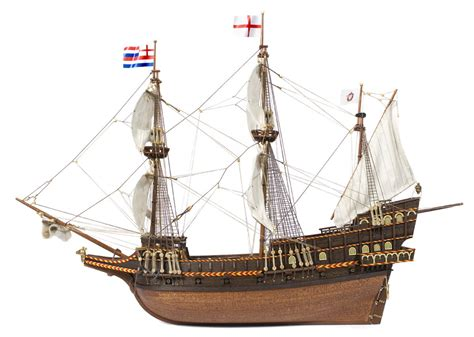side of a ship or boat side view of the galleon golden hind commanded by sir