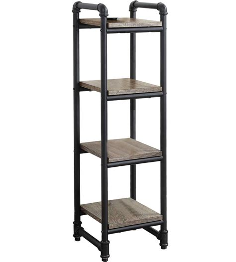 pipe style 4 shelf tower in free standing shelves