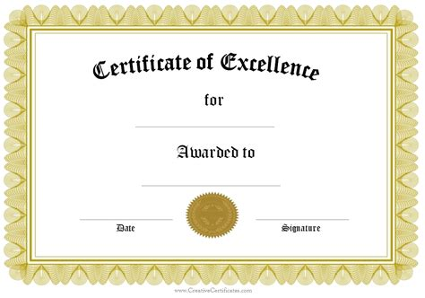 certificate of recognition template beepmunk