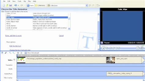 windows movie maker credits tutorial using windows movie maker e03 create title pages and
