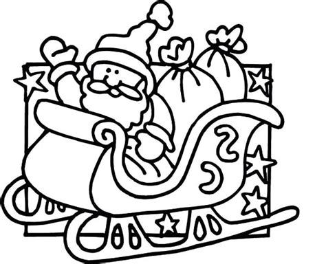 coloring page of santa in his sleigh santa claus sleigh coloring pages