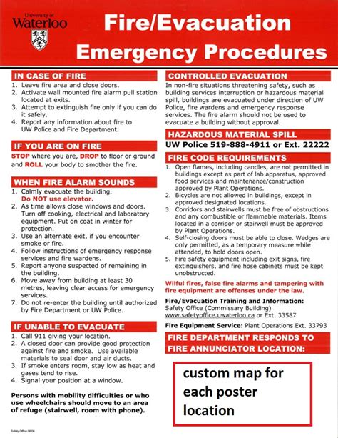 Emergency Procedure Guide Template by Safety Bulletin Template Images Template Design Ideas
