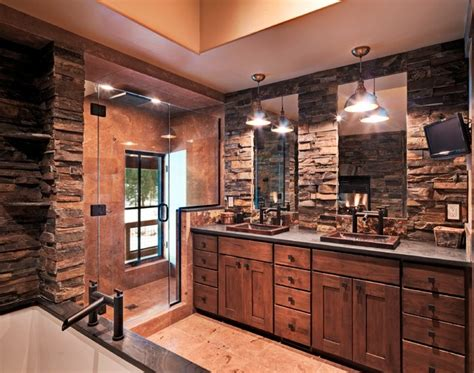 Rustic Master Bathroom Ideas Lahontan Home Truckee Rustic Bathroom Other Metro By Griggs Custom Homes Inc