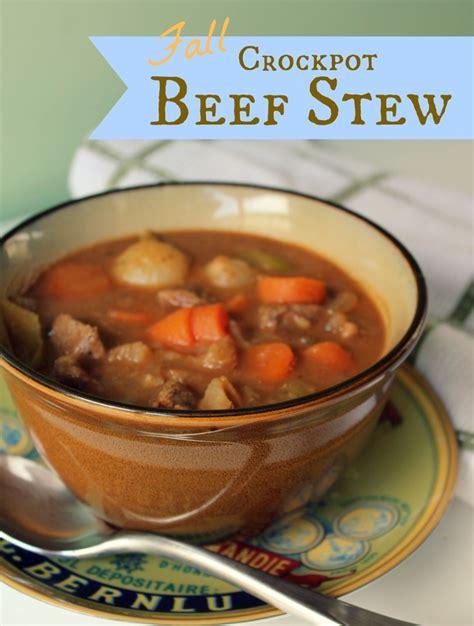 fall crockpot beef stew