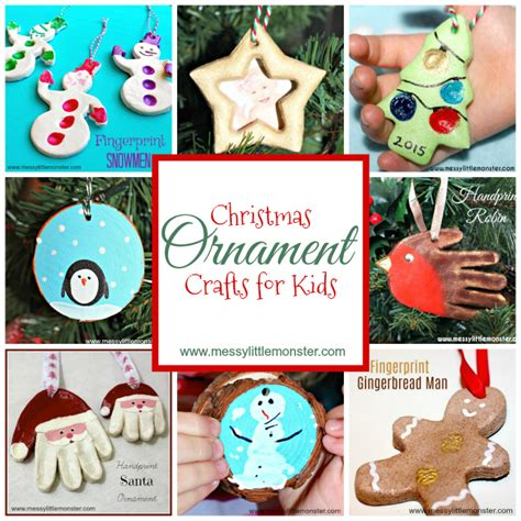 diy christmas ornament crafts  kids messy  monster