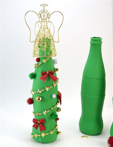 christmas trees made of bottles coca cola glass bottle tree craft a bigger
