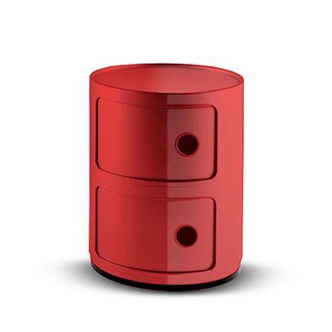 cassettiere kartell kartell componibili 496610 cassettiera colore rosso