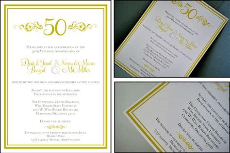 Sle 50th Wedding Invitations by Sle Invitations For 65th Wedding Anniversary Wedding