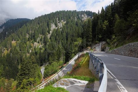 The Road To Beyatch Land Is And Winding 2 by Picturesque Mountains In Northern Italy A Winding