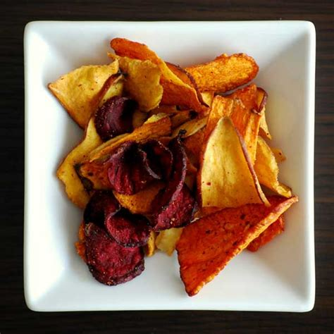 garden vegetable chips baked vegetable chips recipe eat healthy home