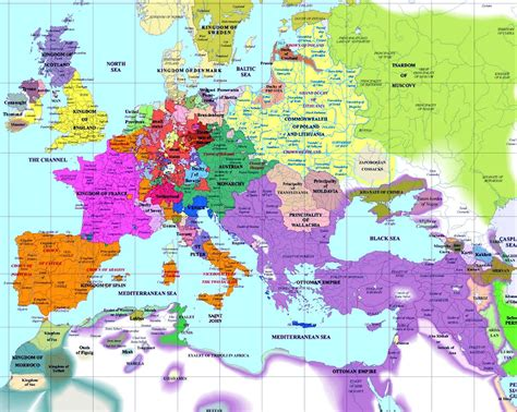 map of world 1600 european history maps