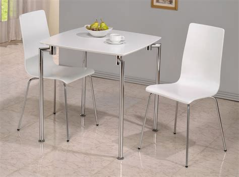 Dining Table Set For 2 Small White High Gloss Dining Table And 2 Chairs Homegenies