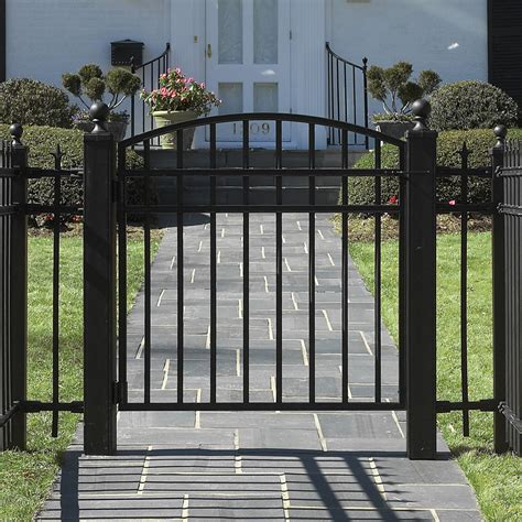 fence gates wrought iron or cedar garden gate