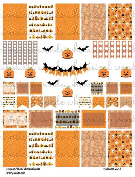printable planner kits printable planner stickers kit halloween 2015 by