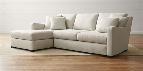 Sectional Sofa by Sectional Sofas Leather And Fabric Crate And Barrel