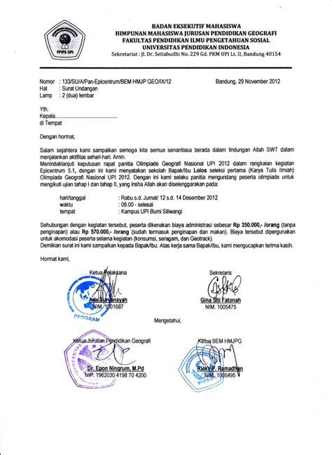 contoh surat resmi sekolah contoh surat wisata dan info sumbar