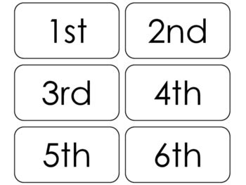 free printable ordinal number cards 20 printable ordinal numbers flashcards positional math