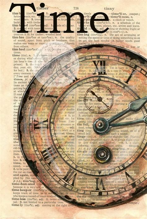 best photos of cool clock faces cool clock face print clock face quot time quot mixed media drawing on distressed