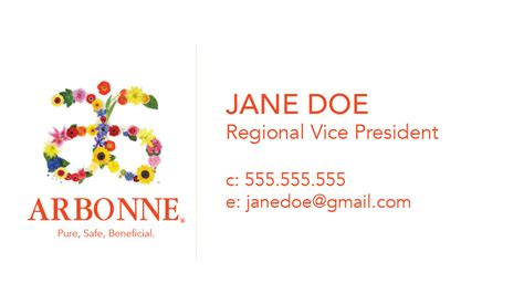 Arbonne Business Card Free Template by Arbonne Business Card Template