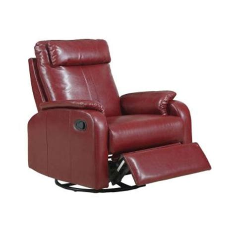 red leather rocker recliner red bonded leather swivel rocker recliner i8081rd the