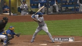 check swing broken bat dodgers blue heaven