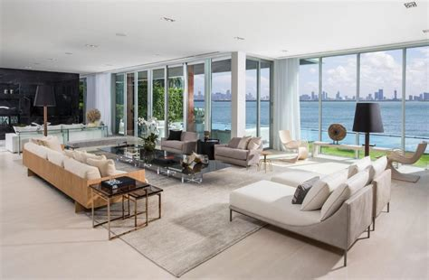 Miami Living Room by Tour A 29 Million Modernist Mansion For Sale In Miami