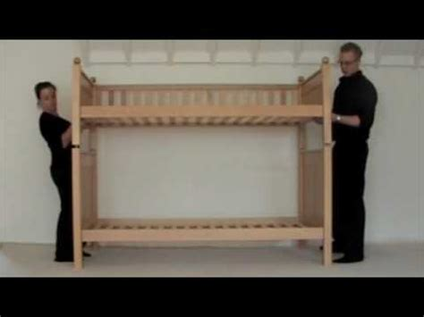 How To Put A Futon Bunk Bed Together by Build A Bunk Bed In 60 Seconds