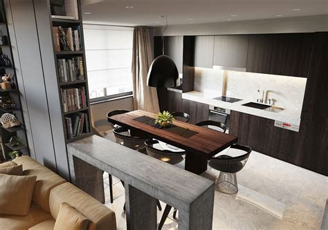 open kitchen dining room exquisite apartment ernst in kiev inspired by posh hotel ambiance