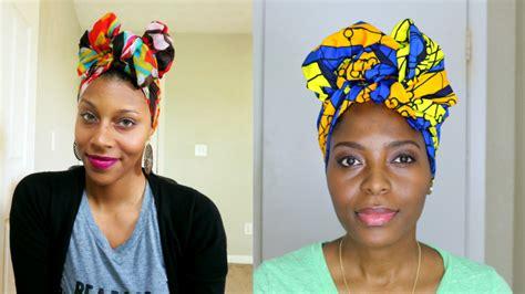 turban tutorial natural hair easy turban head wrap tutorial veepeejay