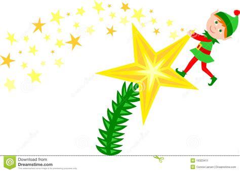 duende de la estrella del 225 rbol de navidad imagen de