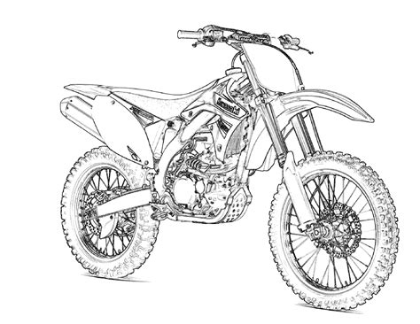 Motocross Coloring Pages free printable motorcycle coloring pages for