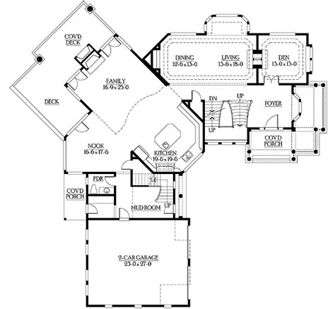 cool floor plan unique floor plan with central turret 23183jd architectural designs house plans