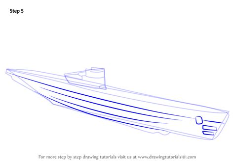 U Boat Drawing by Step By Step How To Draw A U Boat Drawingtutorials101