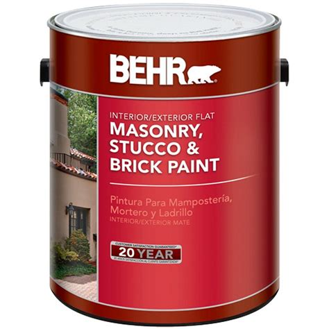 exterior primer paint behr 1 gal base flat masonry stucco and brick