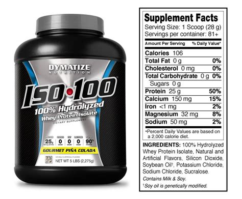Dymatize Whey Protein Iso 100 5lbs dymatize nutrition dymatize iso 100 hydrolyzed 5 lb gourmet pina colada diet supplement