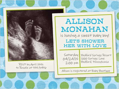 ultrasound photo baby boy shower invite omg photos