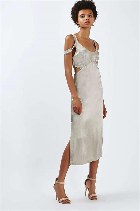cold shoulder cut out midi dress dresses clothing topshop