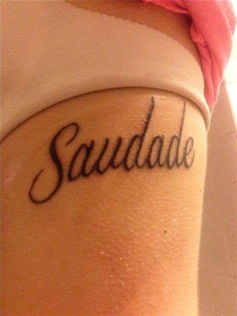 saudade tattoo saudade feelings fonts and