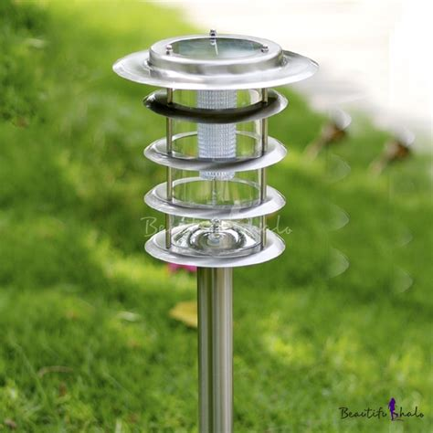 33 H Simple Modern 5 Layer Stainless Steel Super Bright Bright Solar Path Lights