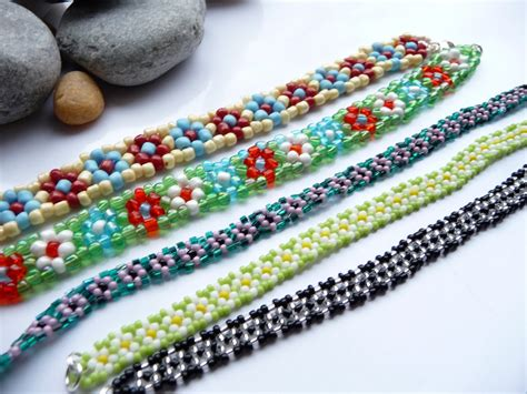 beaded flower bracelet patterns seed bead bracelets as cheap yet accessories