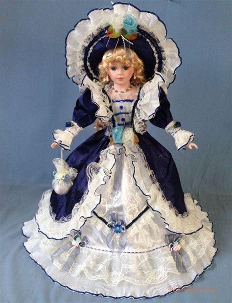 Collectible Porcelain Doll Boneka Porselen jmisa porcelain dolls dress 26 quot umbrella blue gift collectible ebay